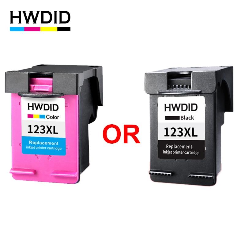 HWDID 123 Cartouches D'encre Rechargées Remplacement pour HP 123 123xl pour Deskjet 1110 2130 2132 2133 3630 3632 3638 4520 IP123