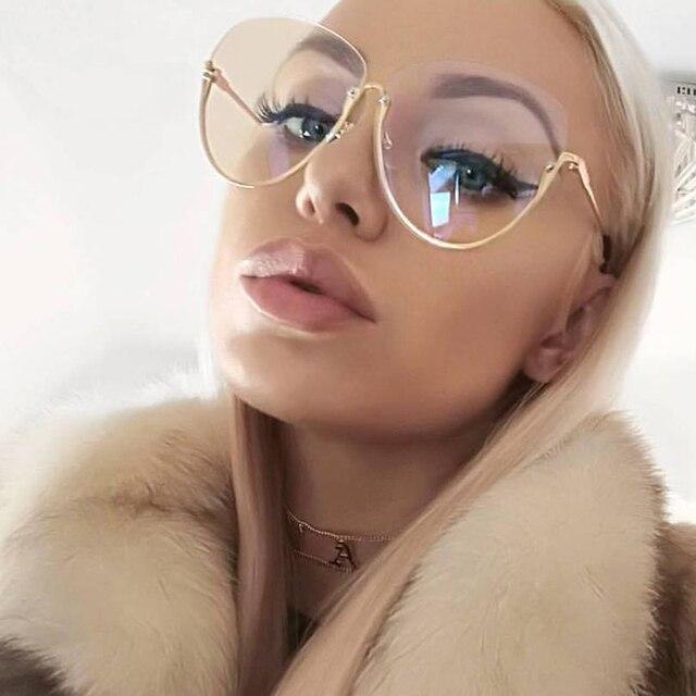 0bc2fedfd5 MEYOU Nuevas Mujeres de la Llegada gafas de Sol Gafas transparentes Marco Lentes  Transparentes Señora Sin