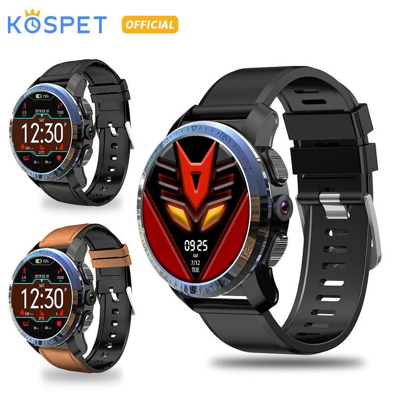 KOSPET Optimus 2 GB GB 8.0MP 16 800 mAh IP67 Sistemas Dual 4G Relógio Inteligente Homens À Prova D' Água 1.39