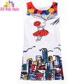 HEHello Enjoy girls dress sleeveless print graffiti jacquard princess dress summer 2017 teenagers kids dresses for girls clothes