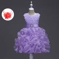 Summer Beaded Baby Clothes Flower Girls Kids Baby Ball Gown Princess Party Formal Clothes 0 24m