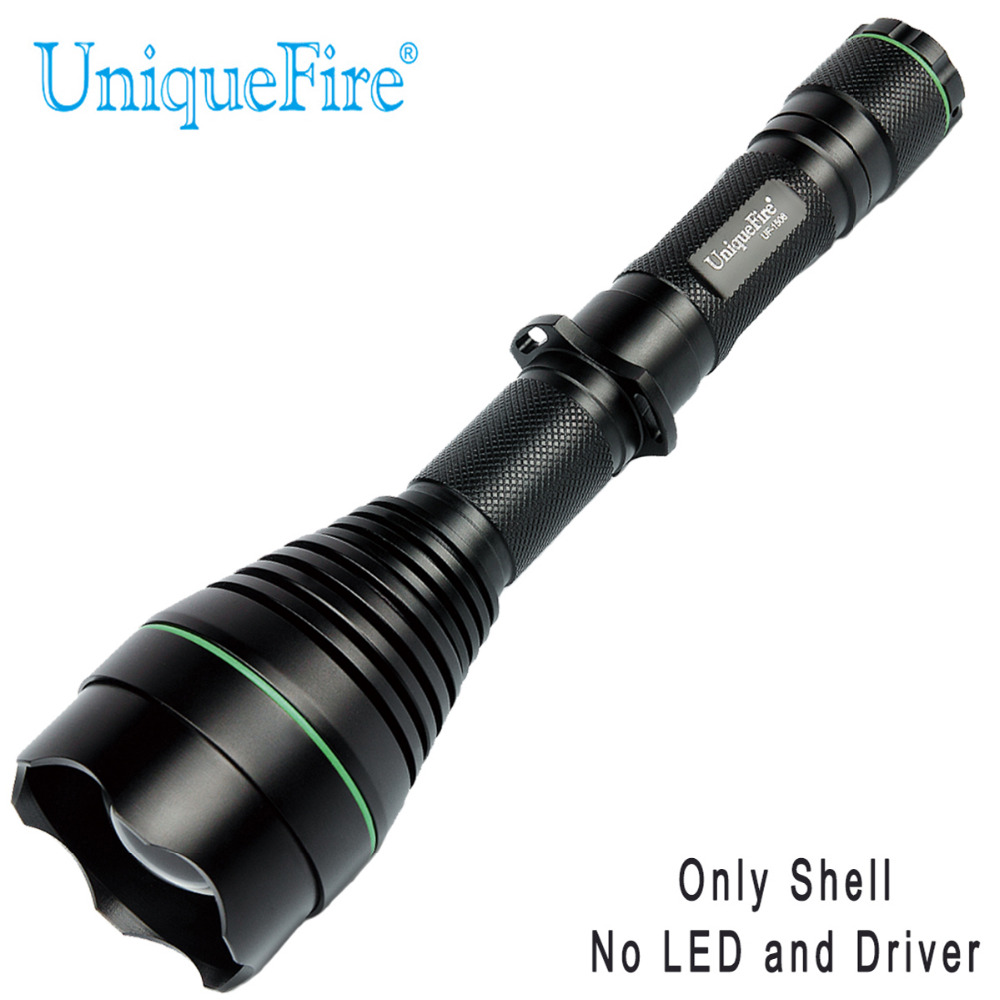 UniqueFire 1508 T50 Flashlight SHELL Without Led And Driver 50mm Convex Lens Black  Fit For 850NM/940NM UniqueFire 1508 T50 Flashlight SHELL Without Led And Driver 50mm Convex Lens Black  Fit For 850NM/940NM