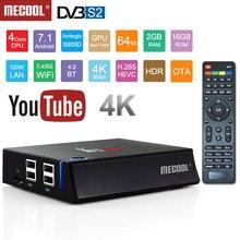 KII Pro Smart Android 7.1 TV Box DVB-T2 DVB-S2 Amlogic S905 4K Media Player 2G+16G WIFI K2 PRO Set Top Box Media player