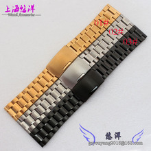Stainless Steel Watch Strap banda reta final pulseira Links 18 mm / 20 mm / 22 mm sólida Links agradável pulseiras de relógio