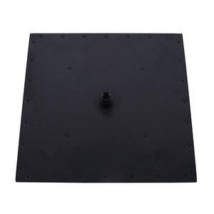 Image 3 - Accesorios para grifos de baño de alta calidad, cabezal de ducha de acero inoxidable SUS304 cuadrado de lluvia de 16 pulgadas, acabado negro mate, venta al por mayor