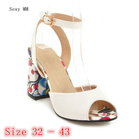 Peep Toe Women High Heel Sandals Shoes Woman High Heels Ladies Gladiator Sandals Pumps Small Plus Size 32 33 34 40 41 42 43