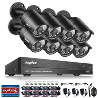 ANNKE 8CH 1080P HD DVR Outdoor IR CCTV Home Surveillance Security Camera System
