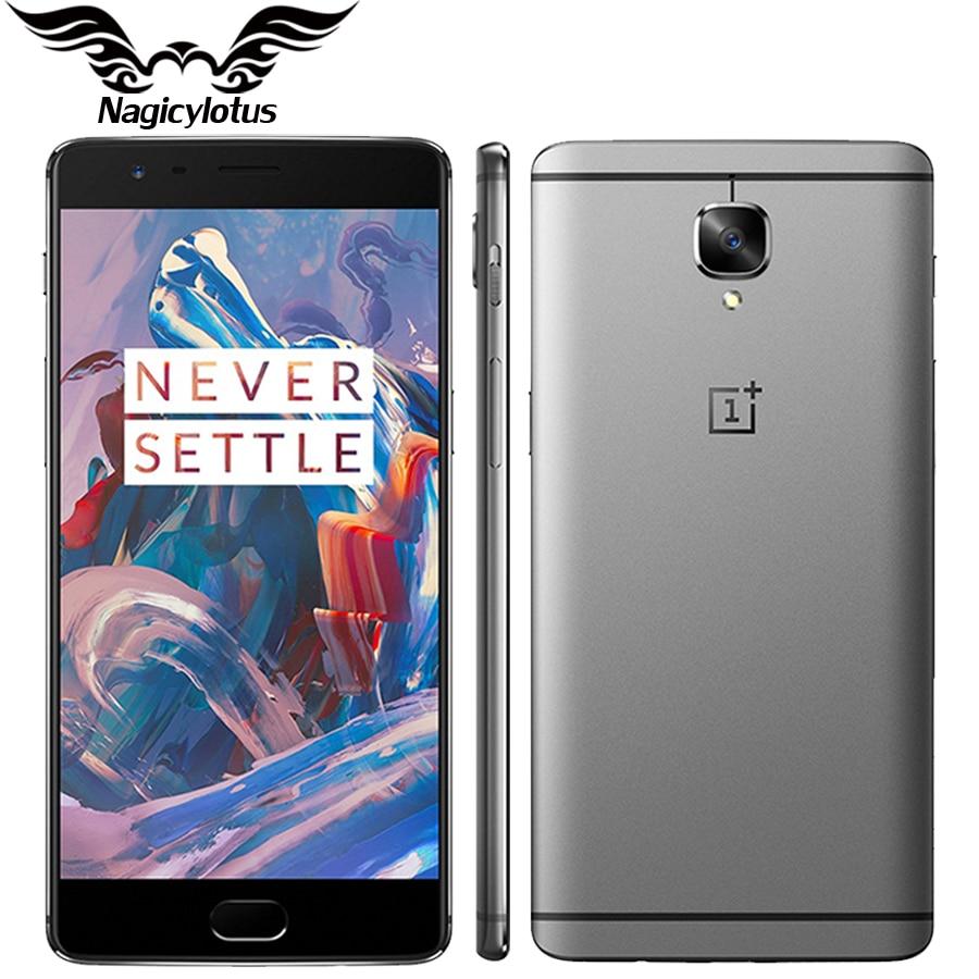 Oneplus 3 A3000 6 ГБ ОЗУ 64 ГБ ROM Оригинальный Новый Мобильный Телефон Snapdragon 820 Quad Core 5.5 Отпечатков пальцев Смартфон