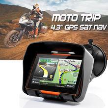 Новое обновление 256 м Оперативная память 8 ГБ flash 4.3 дюймов мото GPS навигатор Водонепроницаемый мотоцикл gps-навигация Бесплатная карты