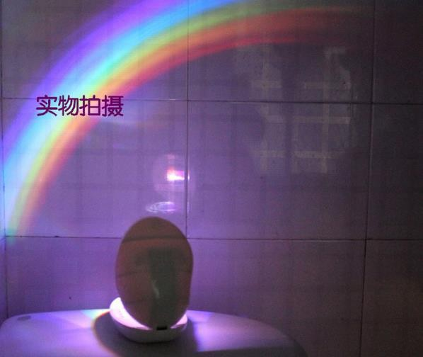 LED Rainbow Projector Light Lamp Home Decor Toy Christmas Gift FREE SHIPPING Dropping and free shipping