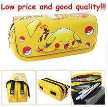 Cartoon Pencil Pen Case Pokemon Gravity Falls Totoro Dragon Ball Zelda Adventure Time Cosmetic Makeup Coin Pouch Zipper Bag