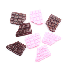 LF 20Pcs Mixed Resin Chocolate Decoration Crafts Flatback Cabochon Embellishments For Scrapbooking Kawaii Cute Diy Accessories