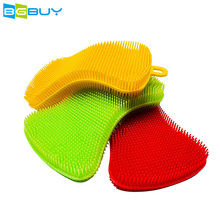 1 PC Silicone Kitchen Sponge and Scrubber for Cleaning Dishes, Pots and Pans, Washing Fruit and Vegetables