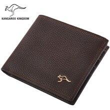 Kangaroo Königreich Berühmte Marke Männer Brieftaschen Aus Echtem Leder Kurze Bauweise Geldbörse Männlichen Tasche Geldbörse Kreditkarteninhaber