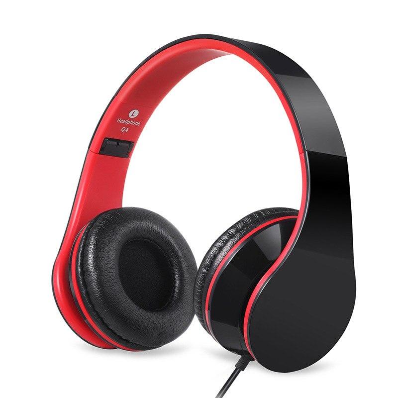 Auriculares con cable para teléfono móvil ordenador estéreo Headfone Big Earmuff Casque Audio Auriculares auriculares para PC juego de Teléfono auxiliar