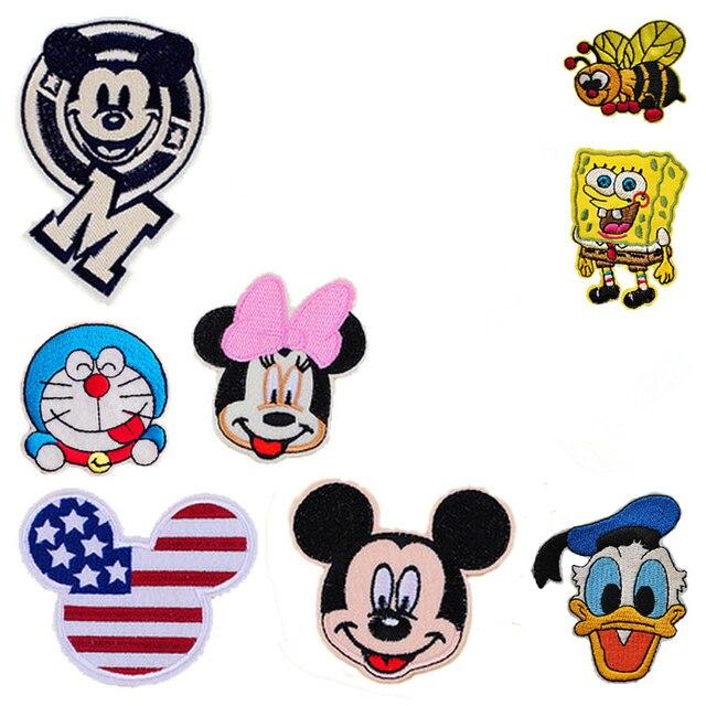 Ape PZ per Minnie Badge Panno Rosa I 1 Vestiti Adesivi Mickey Icona UTntt