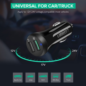 Image 5 - Ugreen Car Charger Quick Charge 3.0 USB Fast Charger for Xiaomi mi 9 iPhone X Xr 8 Huawei Samsung S9 S8 QC 3.0 USB Car Charger