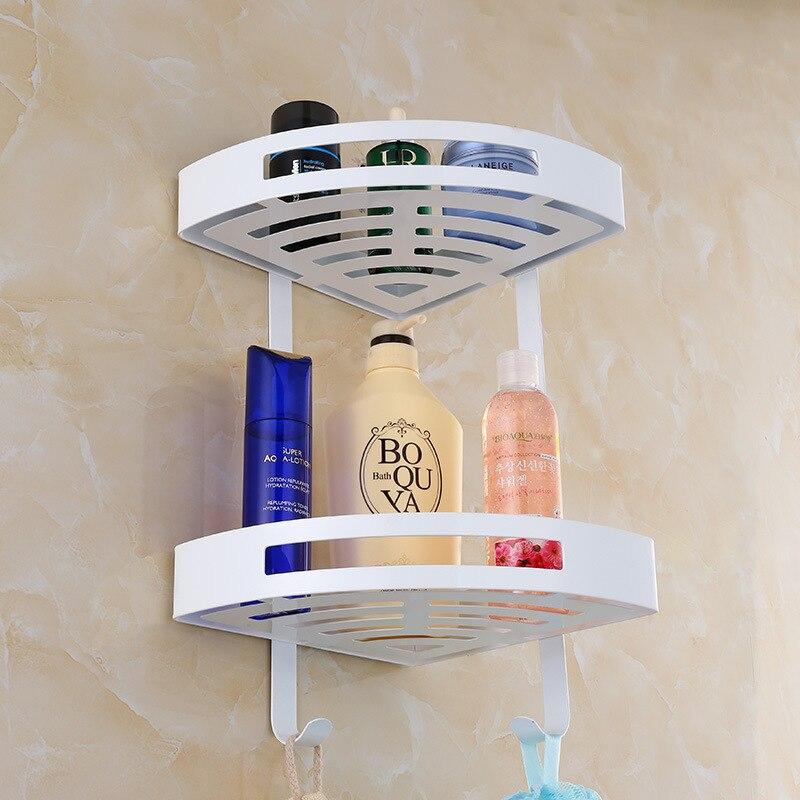 AUSWIND European Stainless Steel 304 White Cosmetic Corner Bathroom ...