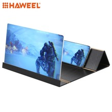 HAWEEL 12.0 inch Universal Foldable Eyeshield 3D Video Mobile Phone Screen Magnifier Bracket Enlarge with Holder for Smartphones