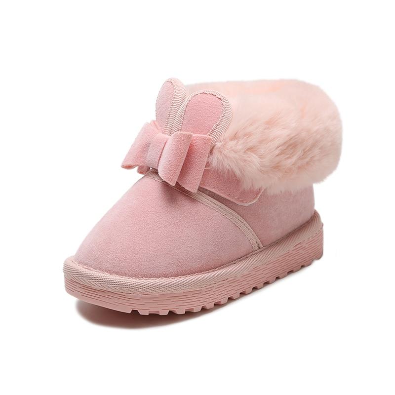 88cca78f6 2017 Botas de Neve DAS Crianças Sapatos Brilhantes Meninas Moda Inverno  Botas de pele Crianças Meninas Do Bebê Da Princesa Sapatos de Bebê De  Pelúcia Quente ...