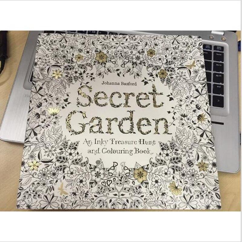 New English Edition Secret Garden Coloring Book For