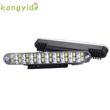 Car-styling kongyide 2PCS 30 LED Car Daytime Running Light DRL Daylight Lamp with Turn Lights td11 dropship