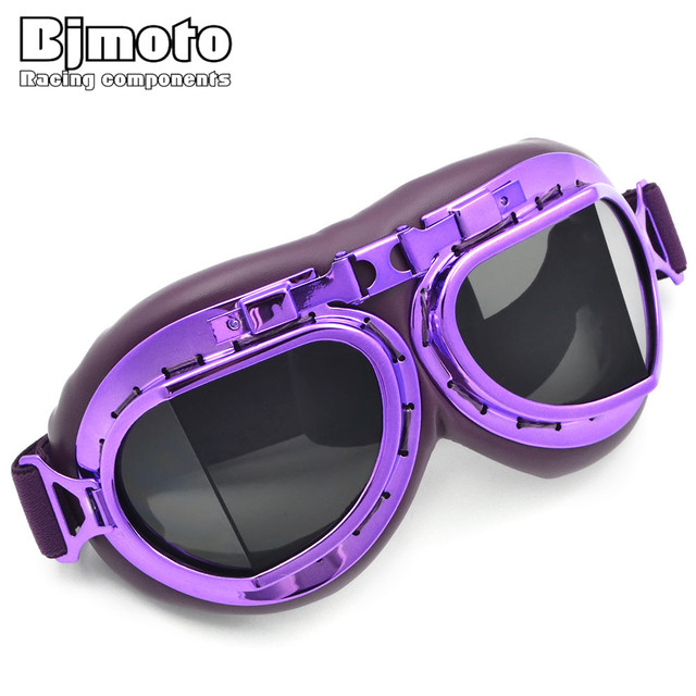 e442a4ebfb BJMOTO Vintage Motorcycle Goggles Smoking Steampunk Coating Sport Sunglasses  for Harley Glasses Scooter Goggle