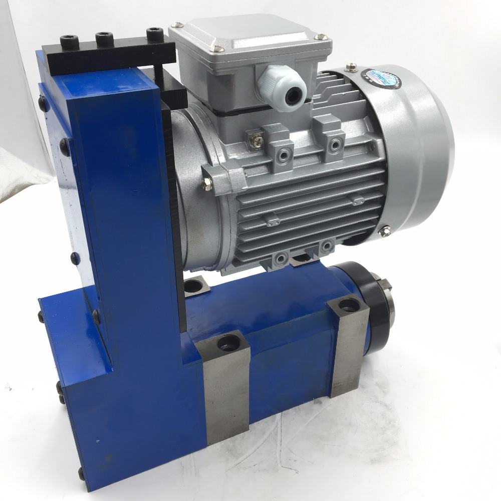 1.5KW 2HP MT3 BT30 ER32 Power Head V-Belt Spindle Unit 2500rpm 6000rpm with Induction Motor CNC Milling Drilling Cutting Machine цена