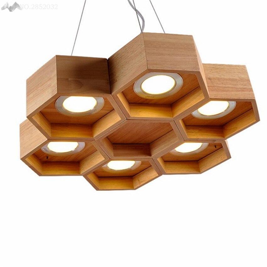 lfh moderno nuevo creativa forma de nido de abeja colgante luces luces lamphanging para cocina del restaurante del dormitor