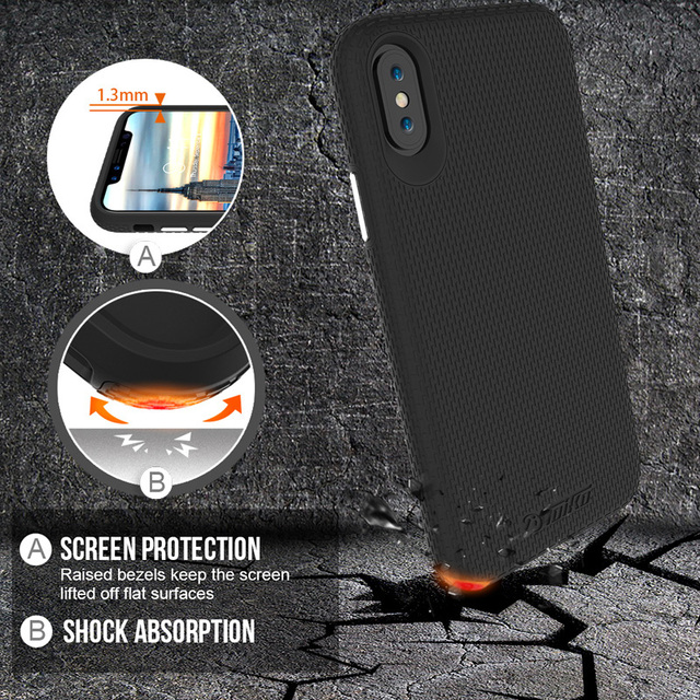 TOIKO X Guard 2 in 1 Hybrid Cases for iPhone X XS MAX XR Military Grade Drop Protection Hard PC Soft TPU Shockproof Back Covers