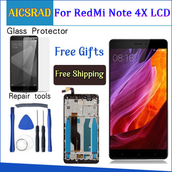 AICSRAD ل Xiaomi redmi note 4X note4X ملاحظة 4 النسخة العالمية أنف العجل 625 شاشة الكريستال السائل + محول الأرقام بشاشة تعمل بلمس مع الإطار