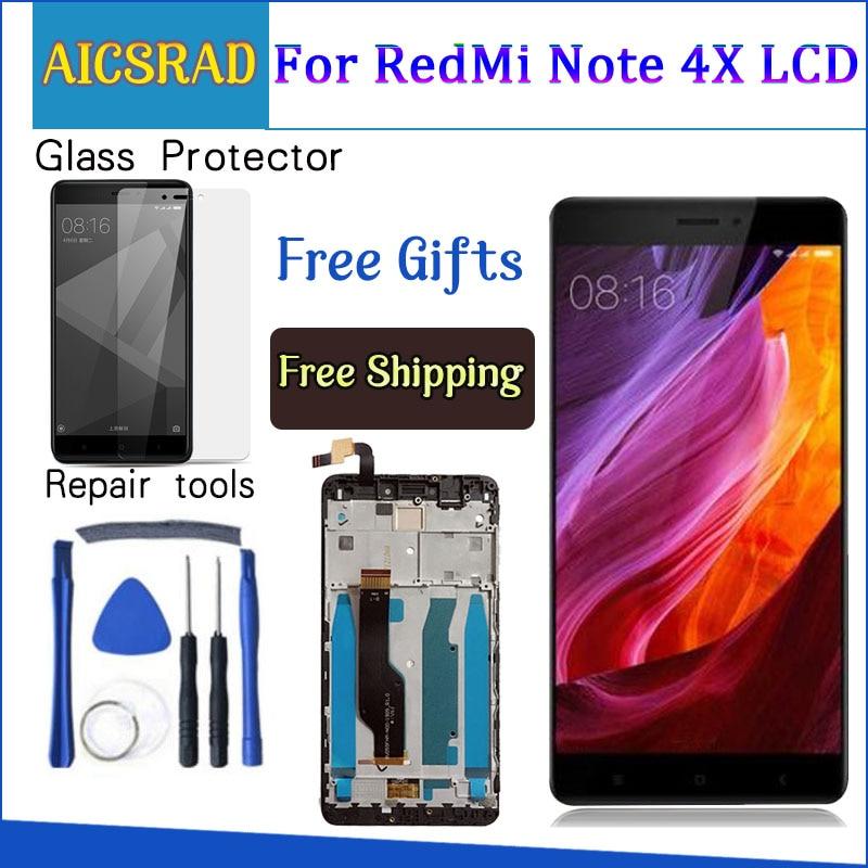 AICSRAD para Xiaomi redmi note 4X note4X Nota 4 versión Global Snapdragon 625 pantalla LCD + pantalla táctil digitalizador con marco