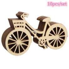 Vintage Wooden Bicycle Ornament 10Pcs/Set DIY Handmade Bike Crafts Party Birthday Wedding Christmas Decorations for Home Navidad