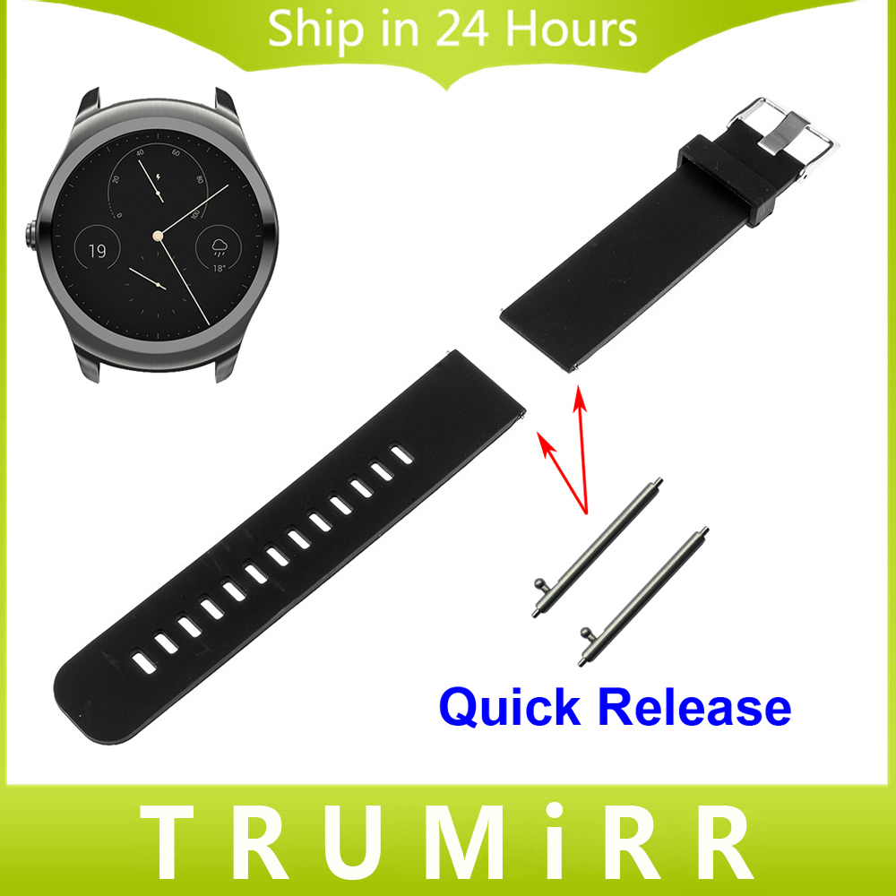 20mm 22mm Silicone Rubber Watch Band for Ticwatch 1 46mm / 2 42mm / Ticwatch E Watchband Quick Release Strap Wrist Belt Bracelet silicone rubber watchband double side wearing strap for armani ar watch band wrist bracelet black blue red 21mm 22mm 23mm 24mm
