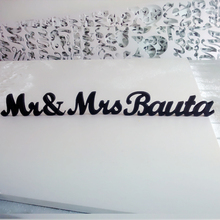 table decoration bride groom wood mr mrs custom last
