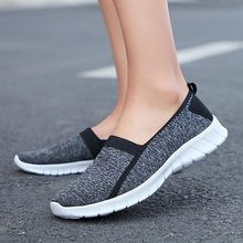 Flying woven mother shoes sneakers women healthy walking wom