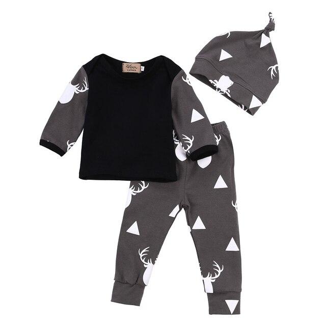 2017 осень стиль мальчик одежда устанавливает хлопка с длинным рукавом младенческой 3 шт. костюм мальчиков, одежда для новорожденных детей малыша наряды