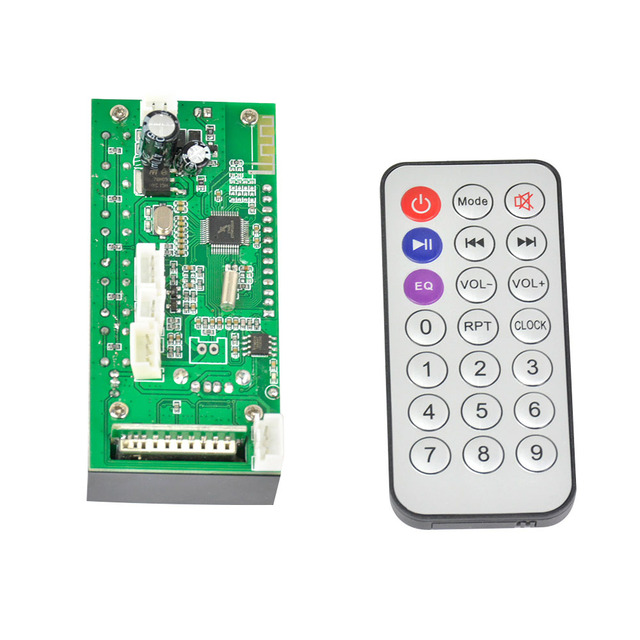 Aiyima Bluetooth MP3 Decoding Board Blue Screen Stereo Output FM USB SD MMC WAV Decoder Record MP3 Player Audio Car