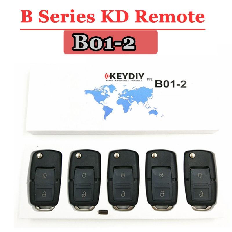 Free shipping  5pcs lot   KD900 Remote Key B series remote control  B01 2 Button Style Remote For Keydiy  KD900 KD200  Machine