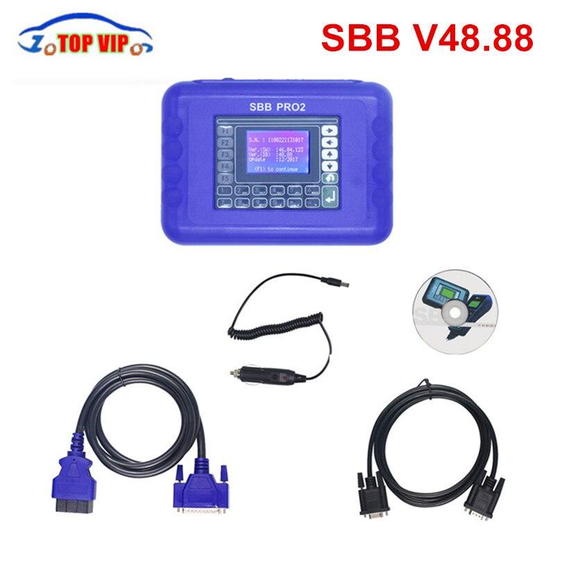 Grosse remise!!! V48.88/v48.99 SBB Pro2 programmeur clé Support voitures à 2018 remplacer SBB V46.02 v33.02 programmeur clé SBB