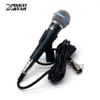 BT58A Professional Cardioid Switch Vocal Handheld Dynamic Wired Microphone For BETA BT 58A KTV Karaoke Mic Audio Mixer Microfone