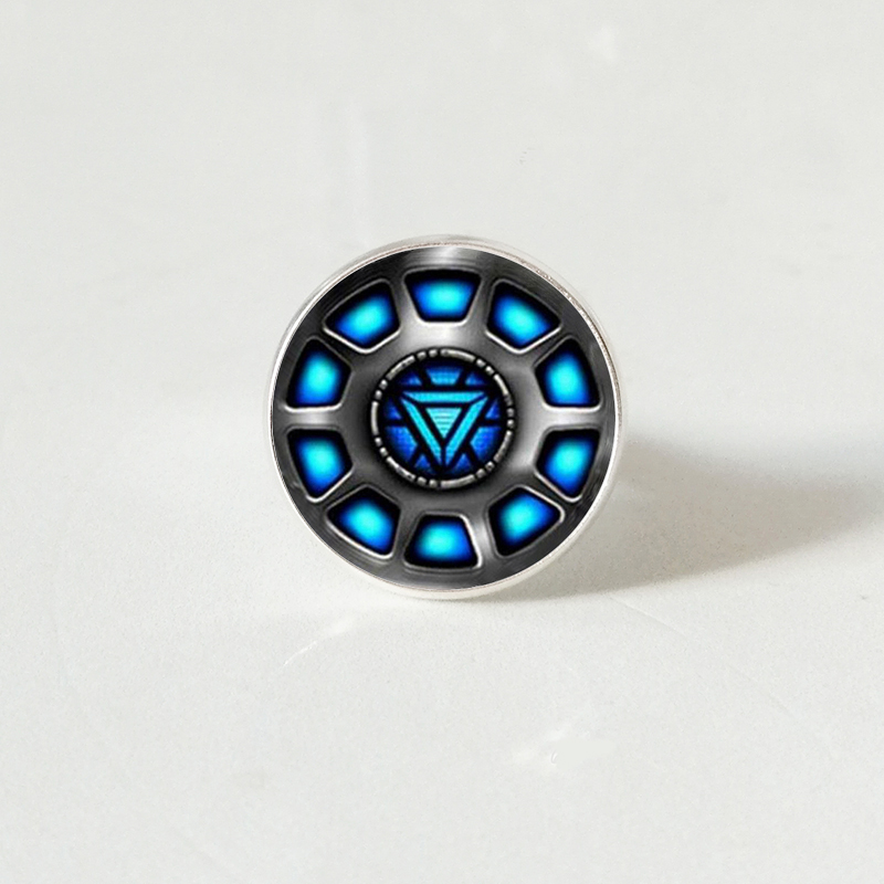 Marvel Iron Man Tony Stark Arc Reactor Ring The Avengers Endgame Quantum Realm Film Ring Souvenir in Rings from Jewelry Accessories