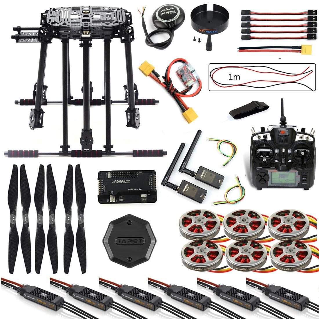 Bricolage ZD850 Kit cadre APM2.8 commande de vol M8N GPS Flysky TH9X télécommande 3DR télémétrie moteur ESC pour RC Hexacopter F19833-G