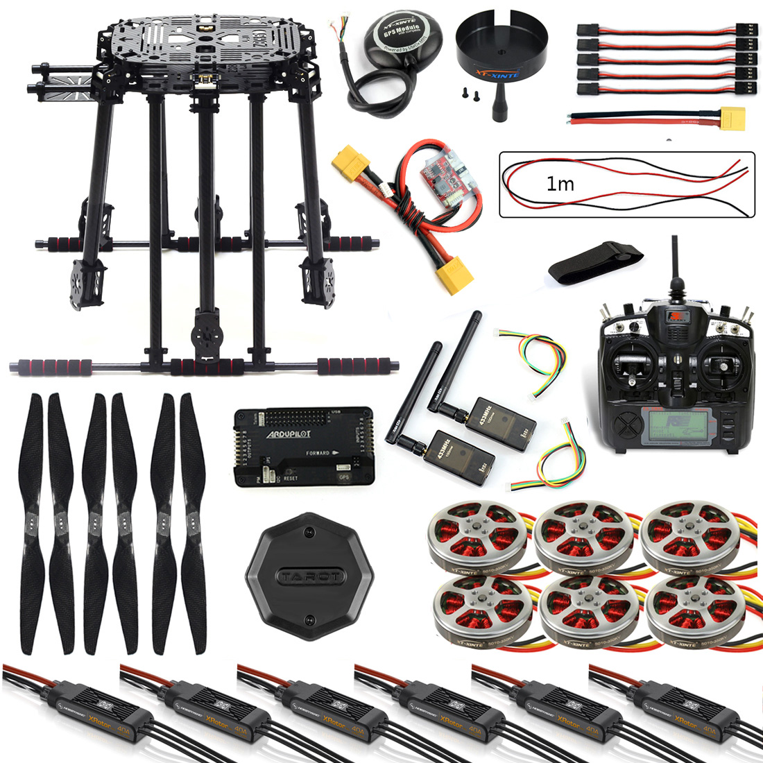 все цены на DIY ZD850 Frame Kit APM2.8 Flight Control M8N GPS Flysky TH9X Remote Control 3DR Telemetry Motor ESC for RC Hexacopter F19833-G онлайн