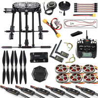DIY ZD850 Frame Kit APM2.8 Flight Control M8N GPS Flysky TH9X Remote Control 3DR Telemetry Motor ESC for RC Hexacopter F19833 G