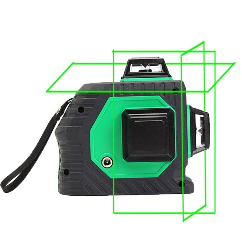 Xeast 12 линий зеленый лазер измеритель уровня 3D лазерный уровень 360 Поворотный Настенный Многоканальный автоматический наливные лазерный уро...