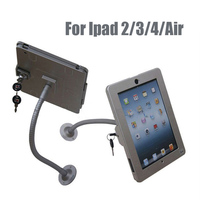 Tablet Wall Mount Security Display Stand For Ipad 2 3 4 Only With Lock And Adjustable