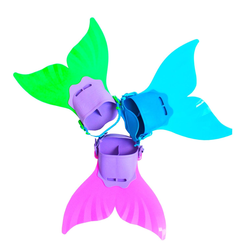 3 צבעים Mermaid סנפירים כיף פליפר זנב Monofin - תחפושות