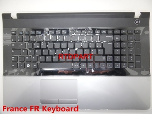 Laptop PalmRest&keyboard For Samsung NP300E7A NP305E7A 300E7A 305E7A France FR Germany GR Kingdom UK Touchpad New(China)