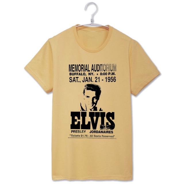 Elvis Presley memorial audictorium buffalo NY 1956 hombres mujeres unisex tee t shirt